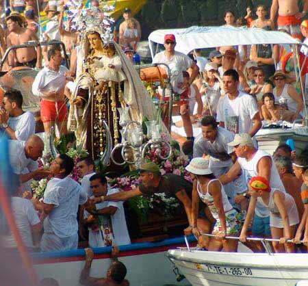 carmen festival, puerto de la cruz
